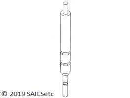 Rudder stock & trunking - 2.5 mm Ø