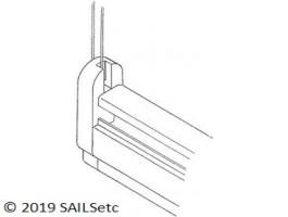 Headsail boom aft end - SAILSetc spar