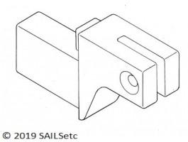 Main boom forward end - SAILSetc spar