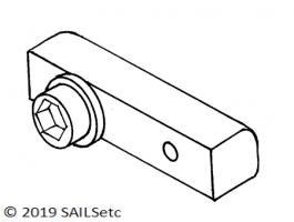 Boom track slide - SAILSetc spar - 6 mm screw