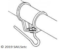 Headsail boom swivel - 11 mm