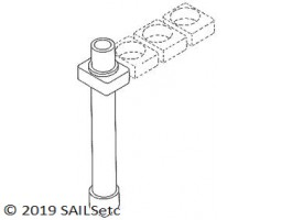Mast/deck blocks - various sizes