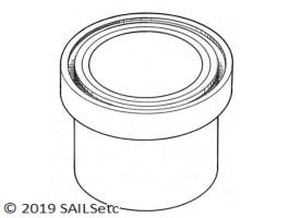Upper bearing - ball raced - 14 mm Ø