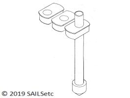 Mast/deck blocks & mast heel - 12.7 mm Ø