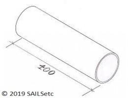 Alloy boom spar - lightweight -  400 mm