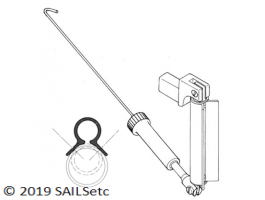 Ball raced g/n - any round mast - optional boom spar fitting