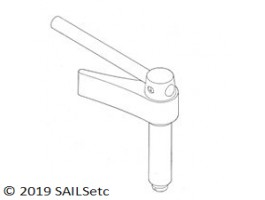 Head fitting + backstay crane - 10 or 12 mm Ø