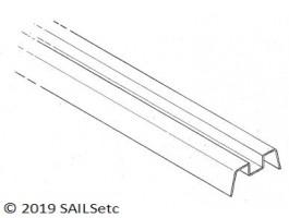 Deck beam + track recess