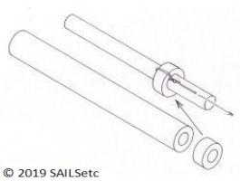 Silicone tubing - 3.2 x 100 mm
