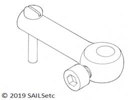 Tiller arm - 3, 4 or 5 mm Ø