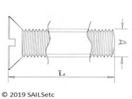 Countersunk head screws - M3.5 - Stainless steel