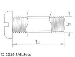 Pan head screws - M6 - Stainless steel