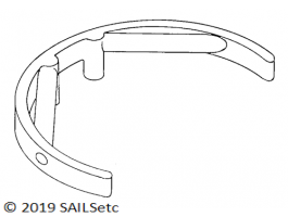Aerial holder - arc format