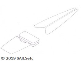 Set of deck patches for SAILSetc boat