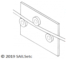 Mast bending tool - for 11 mm Ø mast
