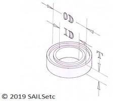 Plain bearing - for 61-010