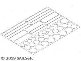 Sail reinforcement - self adhesive discs & strips