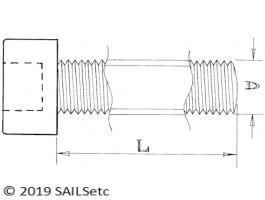 Socket head screws - M4 - Stainless steel