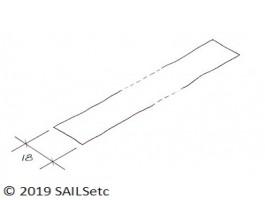 Luff tape - 18 mm wide - per metre