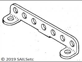 Jib rack - stainless steel - various lengths