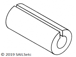 Luff slides - for Walicki mast - pack of 10