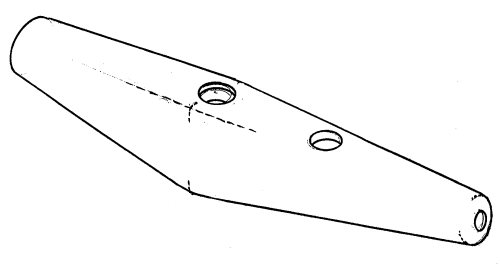 Headsail boom end fitting - for 5 mm boom