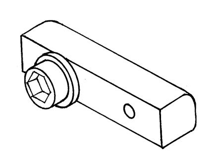 Boom track slide - SAILSetc spar - 5 mm screw