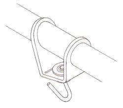 Headsail boom swivel - 6 mm