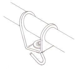 Headsail boom swivel - 8 mm