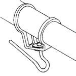 Headsail boom swivel - 10 mm