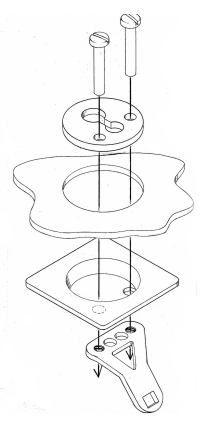 Plate, cup & connector  - pair