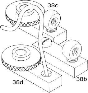 Track slide - eyebolt