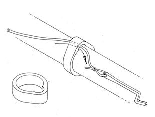 Boom band with eye - 4.5 mm Ø