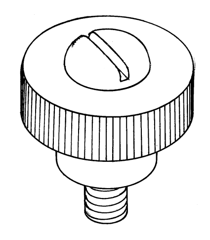 Thumb screw - for RMG winch drum