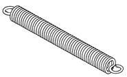 Tension spring - 30 x 6.5 mm