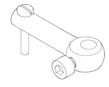 Tiller arm - 2.5 mm Ø