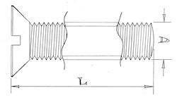 Countersunk head screws - M5 - Stainless steel