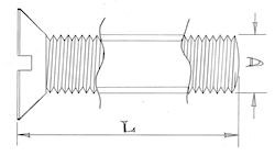 Countersunk head screws - M6 - Stainless steel