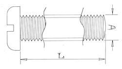Pan head screws - M4 - Stainless steel