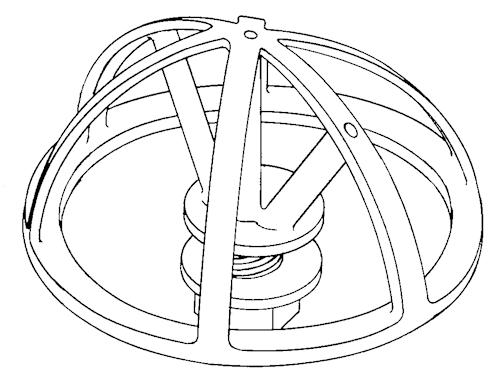Aerial holder - cage format