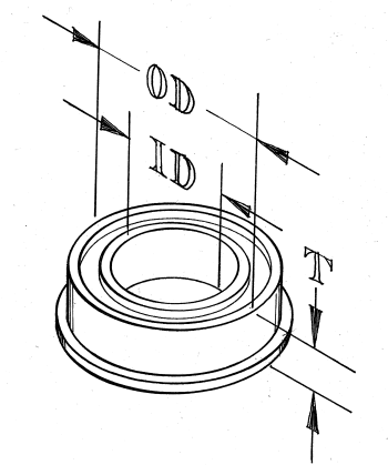 Flanged bearing - for 14D