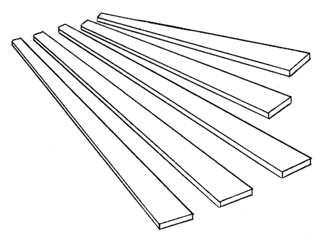 Tapered battens - IOM, medium - 10 sets/pack