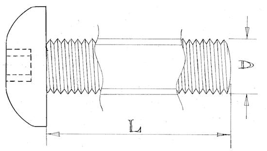Button head screws - M2.5 - Stainless steel