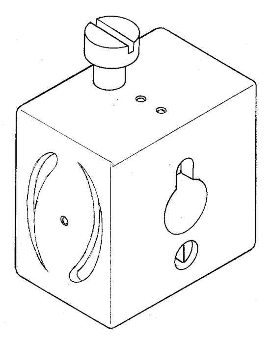 Drill guide block - for mast spars