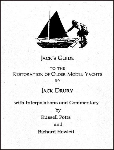 Jack's Guide to the Restoration of Older Model Yachts