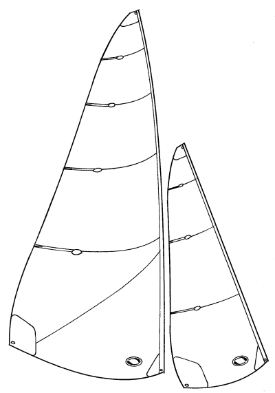 Marblehead lightweight sails -  swing rig A suit