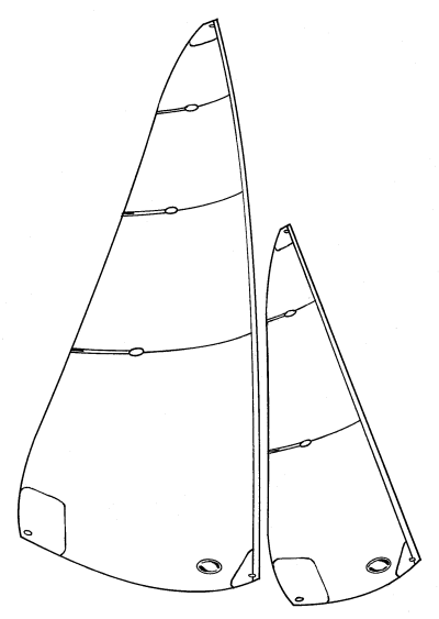 Marblehead panelled sails - B, C1, C2, C3 swing rig suits