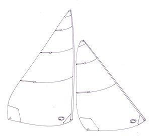 EC 12 Metre No 2 sails - panelled