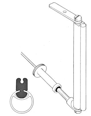 Standard g/n - alloy GROOVY mast - large