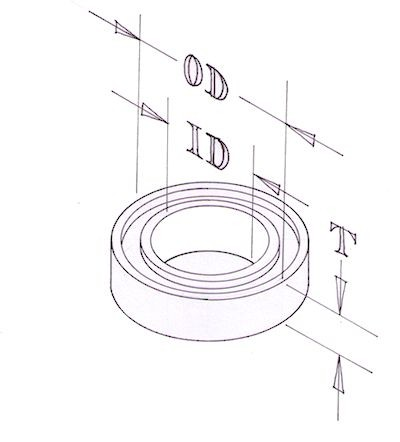 Plain bearing - for 12B & 12C